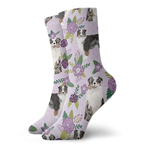 shenguang - Calcetines divertidos para mujer Aussie Bm c Floral # 2, calcetines deportivos casuales de 30 CM