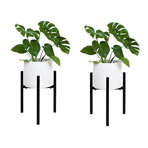 Pflanzenständer 2er Blumentopfständer Metall Verstellbar Blumenständer Hoch Topfgestell Pflanzen Pflanzenregal Plant Stand für Hause Zimmer Balkon Innen Außenbereiche Einstellbare 24 cm bis 37cm