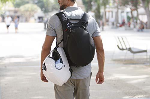 OG Online&Go Roadrunner Motorrad-Rucksack Wasserdicht Schwarz Leicht 20-30l, Motorradhelm-Tasche, Helm-Trageriemen, Fahrrad-Rucksack, Anti-Diebstahl, Laptop-Fach, Reflektierend - 5