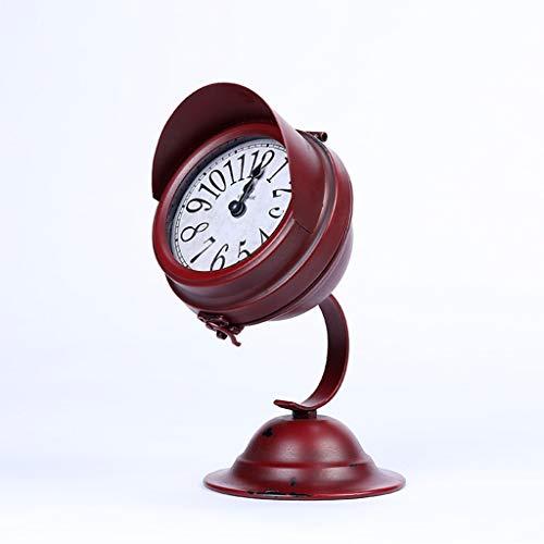 LYM $ Digitaler Wecker Tischuhr Europäische Retro-Stummschaltung Desktop-Deko-Uhr Nicht-Tick-Stummschaltuhr