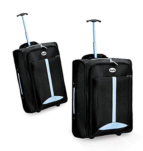 Keplin Lightweight Wheeled Cabin Approved Travel Bag Suitcase Trolley Hand Luggage, Blue