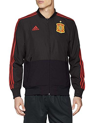 adidas Herren Spanien Präsentationsjacke Jacke, Dgsogr/Ntgrey/Red, M
