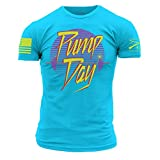 Grunt Style Pump Day Men's T-Shirt, Color Tahiti Blue, Size X-Large