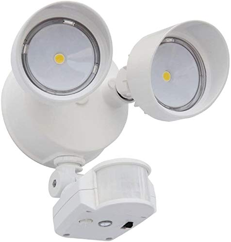 Lithonia Lighting 2RH 40K 120 MO DDB M6 OLF LED Security Floodlight with Motion Sensor, 2 Heads, Round, Color may vary