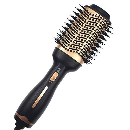 Hot Air Brush ,Hair Dryer Brush, Professional Hair Dryer & Volumizer 3 in 1 Upgrade Anti-Scald Negative Ionic Technology Hair Straightener Brush,Salon Negative Ion Ceramic Electric Blow Dryer