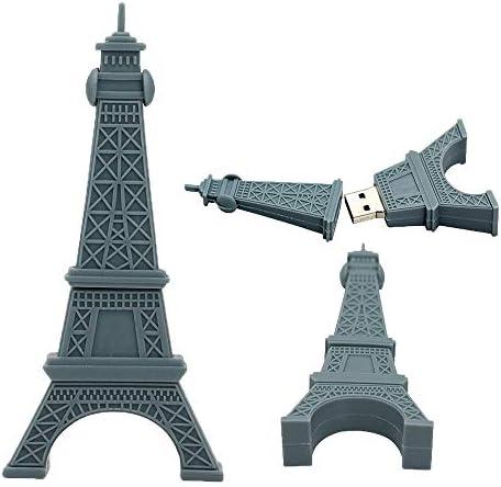 USB Flash Pen Drive Pendrive Memory Stick Cartoon Data Storage Thumb Sticks Funny Cute Eiffel product image