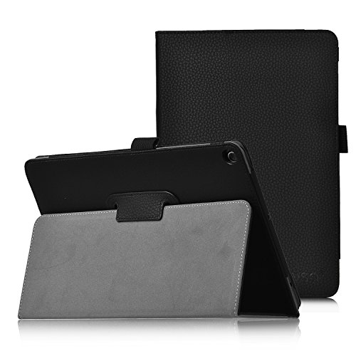 ASUS ZenPad 3S Case, IVSO ASUS ZenPad 3S Case Leather Slim-Book Stand Cover Case-for ASUS ZenPad 3S 9.7 inch 2016 Tablet(Black)
