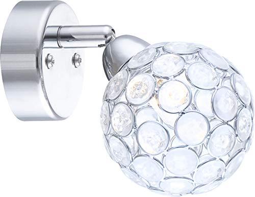 Wandstrahler Innen Wandlampe Flurlampe Wandleuchte Leselampe Kristalle (Wandspot Beweglich, Wohnzimmerlampe, Schlafzimmerlampe, 33 Watt, Warmweiß)