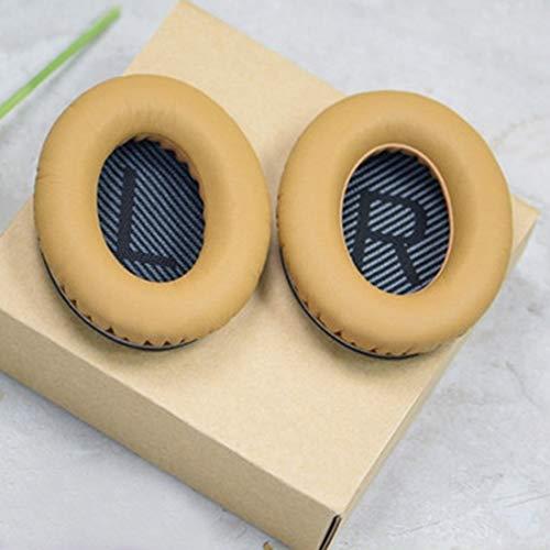 Zachte vervangende oorkussens lederen kussens voor BOSE Rustige QC25 QC15 QC2 QC35 AE2, Goud/Zwart