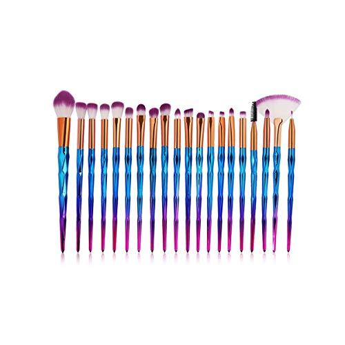 Maquillage Brush Set 20pcs / Kit Maquillage Pinceaux poudre Ombre à paupières Fondation Blend fard à joues lèvres cosmétiques Beauté douce Maquillage outil Pinceau, Maquillage de visage Pinceau