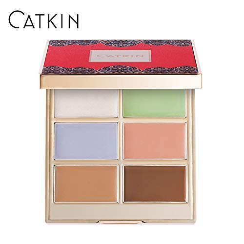 CATKIN Concealer Palette,Aesthetica Color Correcting Cream Corrector Makeup Contouring Foundation-6 Colors