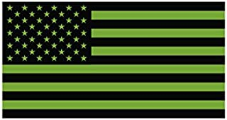 olive drab american flag sticker
