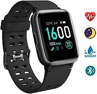 【Resistenza all'acqua IP68】Smartwatch ha una resistenza all'acqua IP98, con un design impermeabile unico, adatto per attività all'aperto. Può essere utilizzato durante il nuoto e può anche registrare vari dati. (Nota: non utilizzare in acqua con una ...