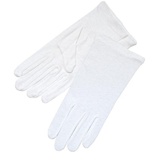 ZAZA BRIDAL White 100% Cotton Girl's Gloves - Girl's Size Small (4-7yrs)