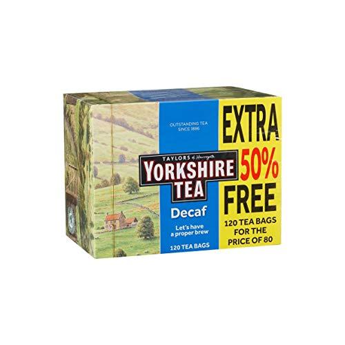 Taylors of Horrogate Yorkshire Tea descafeinado, 120 bolsitas de té