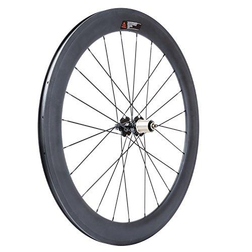 VCYCLE 700C Carbonio Biciclette Ruote profondità 60mm Copertoncino 23mm Larghezza Shimano o Sram 8/9/10/11 velocità(Ruota Posteriore)