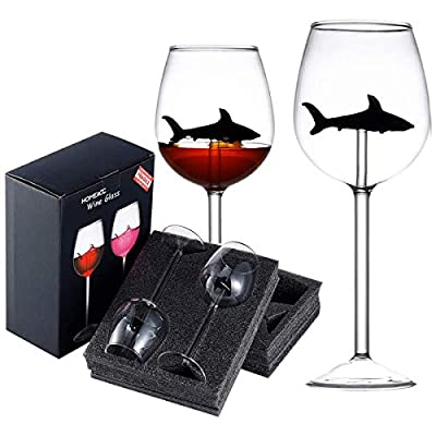 Wine Glasses Set of 2,Red Wine Clear Glass,Crystal Flutes Goblets Novelty Gift for Adults Home Bar Party Christmas Celebration(Black)