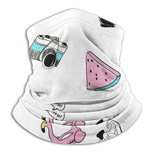 N / A Nahtloses Gesichtsschutz,Hochelastisch Stirnband,Prämie Röhrenschal,Outdoor Kopfbedeckung Stirnband,Mikrofaser Bandana,Hand Gezeichnete Figuren Bandanas