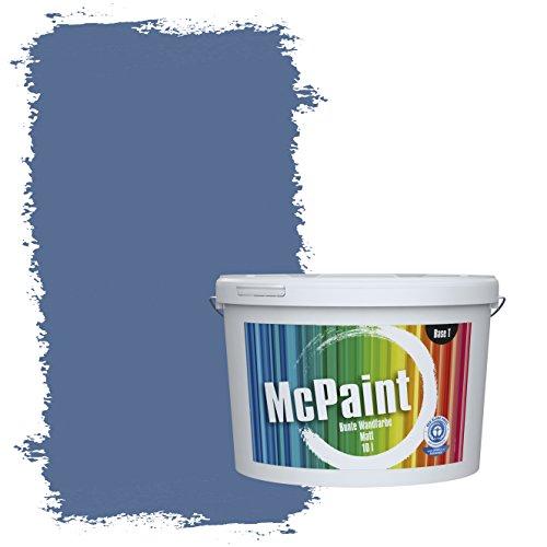 McPaint Bunte Wandfarbe Marineblau - 10 Liter - Weitere Blaue Farbtöne Erhältlich - Weitere Größen Verfügbar