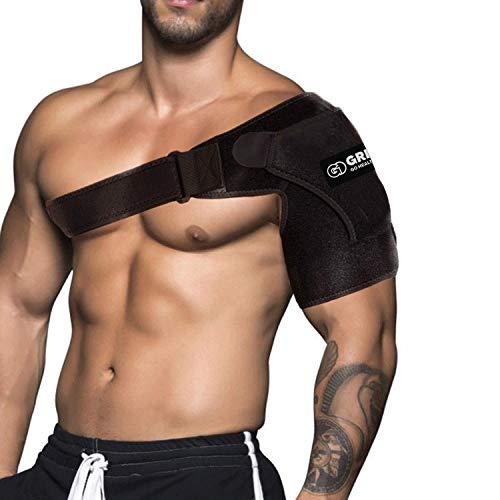 Shoulder Stability Brace for Men and Women, Adjustable Fit Sleeve Wrap.Relief for Shoulder...
