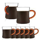 JavaFly Daria Glass Mug 10.5 oz, 8 Pack, Clear