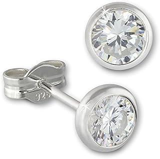 SilberDream Ohrringe 5mm für Damen 925 Silber Ohrstecker Zirkonia weiß SDO5535W ein Angebot von IMPPAC