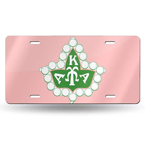 Alpha Kappa Alpha ΑΚΑ Art Plate License Plate 6 X 12 Inch License Plate Aluminum Auto Tag for Car Truck Rv Trailer