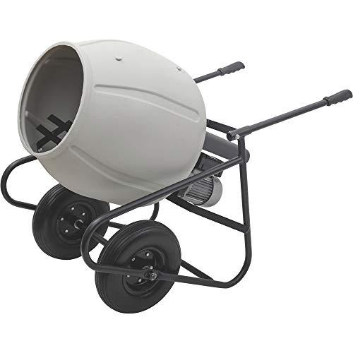 Klutch Portable Electric Cement Mixer -3.5 Cubic Ft. Poly Drum