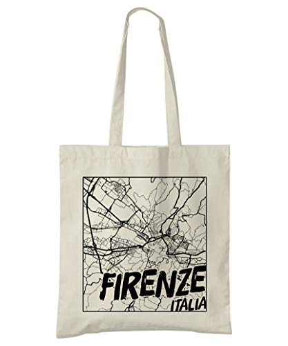 Super Cool Totes Florenz, Italien, Stadtplan Einkaufstasche (Design 3)