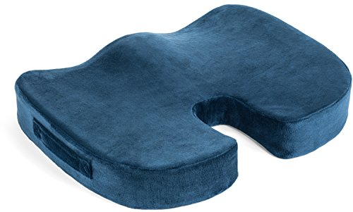 OfficeGYM Orthopedic Coccyx Cushion Best Tailbone Pillow for Back Pain Relief Memory Foam for Office Chair, Truck Driver, Car Seat, Washable Cover.