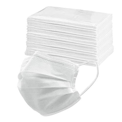 50 Stück Adult Unisex Erwachsenegesichts cover 3 layers importieren stoff mehrfarbig Einheitsgröße für Herren Damen - Einzeln verpackt,Einfach zu tragen und zu lagern...