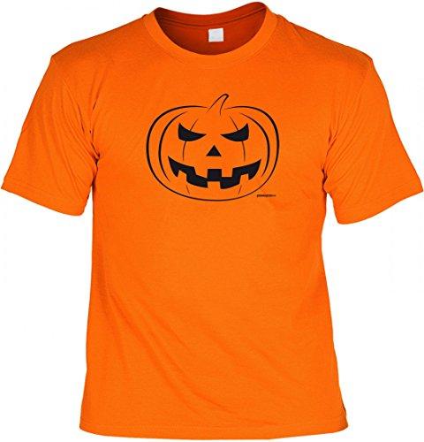 T-Shirt mit Aufdruck - Kürbis - Horror Zombie Geister Monster Hexe Kostüm Verkleidung Halloween Party Geschenk, Größe:L