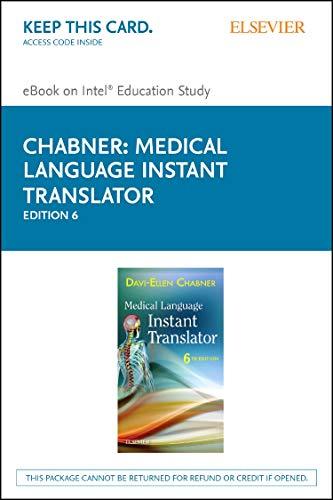 Medical Language Instant Translator - Elsevier eBook on Intel Education Study (Retail Access Card)