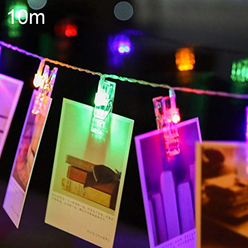 Ebogor for Holiday Lights 10m Photo Clip LED Fairy String Light, 80 LEDs 3 x AA Batteries Box Chains Lamp Decorative Light for Home Hanging Pictures, DIY Party, Wedding, Christmas Decoration
