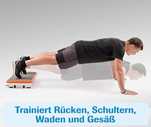 MediaShop VibroShaper – Fitness Vibrationsplatte unterstützt bei Muskelaufbau und Fettverbrennung – Vibrationstrainer für alle Muskelgruppen – inklusive Fitnessbänder – orange - 7