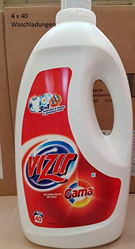 Flüssiges Vollwaschmittel Vizir Gel Classic, 4 x 40 WL, 10,40 Liter, GAMA