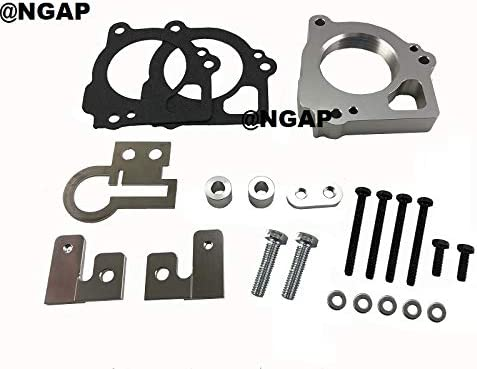 Silver Billet Aluminum New Shipping Free Throttle Body Cher Spacer Grand For 03-07 Time sale