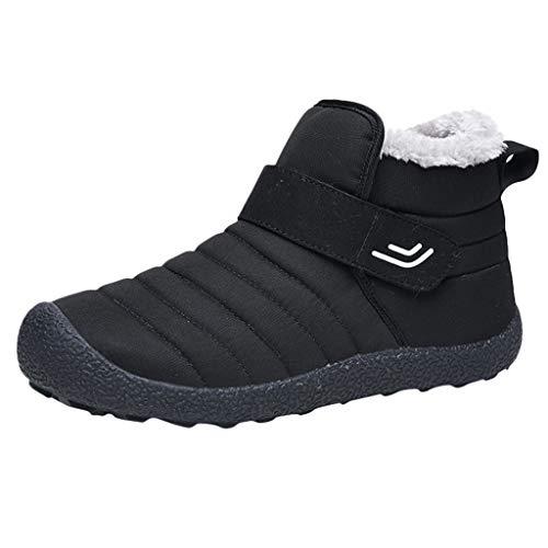 serliy😛Winterstiefel Damen Wasserdicht Warm Gefütterte Schneestiefel 2019 Flach Winterschuhe Outdoor Wanderschuhe Warm Bootie Winter Kurzschaft Boots Schuhe mit Damenschuhe