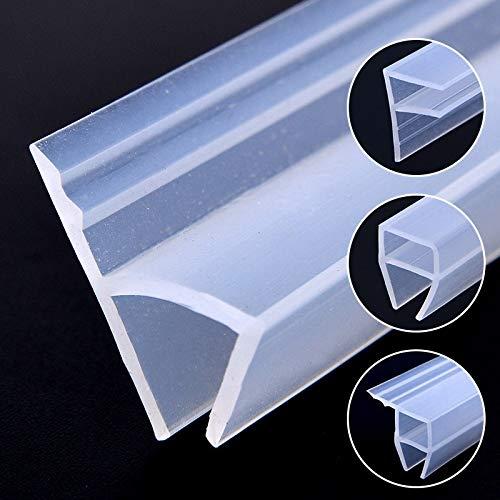 Forma 5M de caucho de silicona de la ventana de sellado F U H Corner Puerta Tiempo Strip Proyecto de tapón for ducha Habitación Panel acústico 6/8 / 10/12 mm (Color : Transparent, Length : 5M)