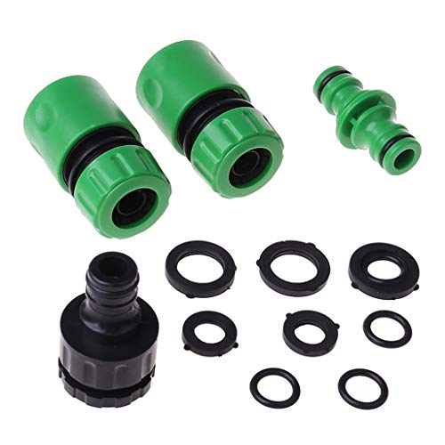 caralin Plastic Garden Hose Tap Connector Washer Kit for Joining Garden Pipe Tube Tool Male Connector