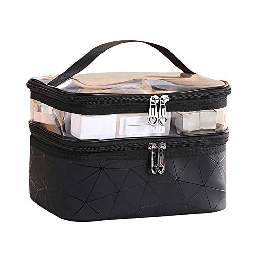 Shouhengda Travel Cosmetic Bags,Shouhengda Large Capacity Make Up Storge Bags with Waterproof Transparent Travel Toiletry Bag (23'16'17