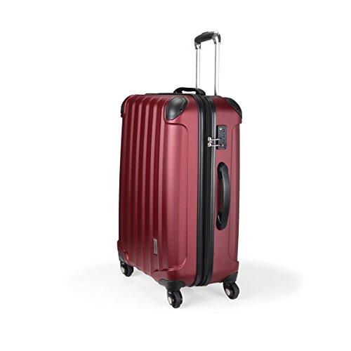 スーツケース TSAロック 超軽量 KT063F SS M L SUITCASE SSサイズ完全機内持ち込み M Lサイズ容量UP 4輪360度回転静音キャスター YKK 旅行カバン キャリーケース 旅行用品 国内海外 修学旅行海外留学 ビジネスバック キャリーバック (SS 小型, ワインレッド)