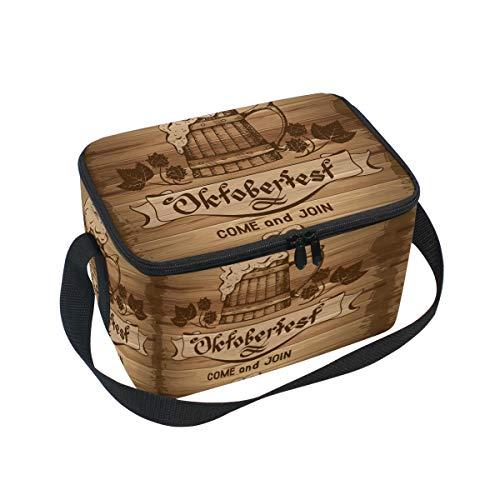 Ahomy Lunch Box Rétro Octoberfest Sac à déjeuner Isotherme Sac fourre-Tout Isotherme pour l'extérieur, l'école, Le Bureau, Les boîtes à déjeuner Organisateur pour Enfants et Adultes