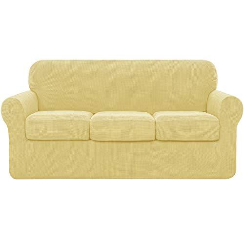 Subrtex - Funda de sofá con funda de cojín separada, elástica, para sofá