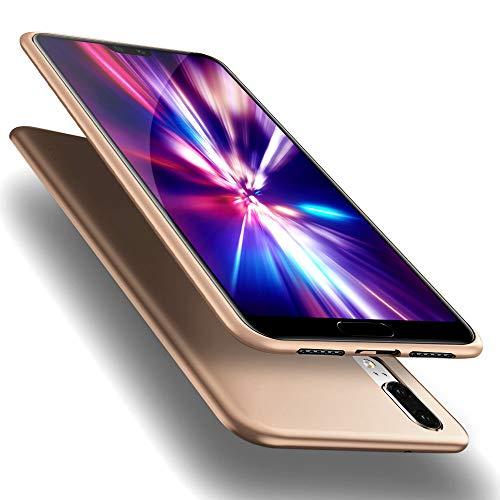 X-level Huawei P20 Hülle, [Guardian Serie] Soft Flex Silikon Premium TPU Echtes Telefongefühl Handyhülle Schutzhülle für Huawei P20 Case Cover - Gold