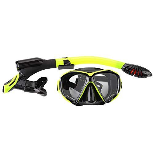 Máscara de esnórquel, el nuevo conjunto de esnórquel seco, vista panorámica, máscara de buceo antivaho, gafas de buceo con escafandra, respiración fácil y equipo de snorkel profesional para adultos
