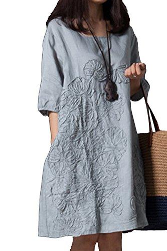 Las Mujeres Vestido De Verano Casual Plus Tamaño Vestidos De Fiesta D
