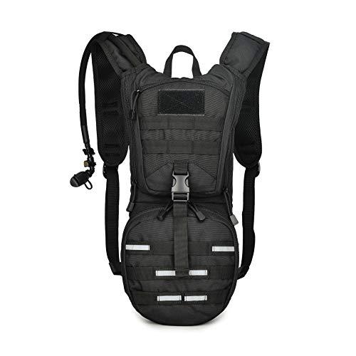ZONEFR Mochila de hidratación con bolsa de hidratación de 2,5 l, mochila de hidratación para bicicleta, mochila táctica para senderismo, ciclismo, correr, caminar, escalada y montañismo
