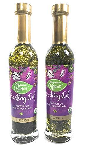Wegmans Basting Oil, Organic, Garlic and Herb Sunflower Oil 2-Pack