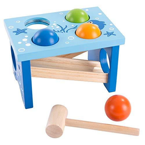 FFXZL Juguete cognitivo para bebés, Banco de Madera, Martillo, Juego de Juguetes para niños, proyectos educativos tempranos, Juguetes de Aprendizaje, Regalo de cumpleaños para niño y niña